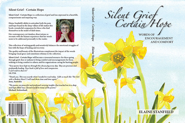 "The cover of the book ""Silent Grief - Certain Hope"""